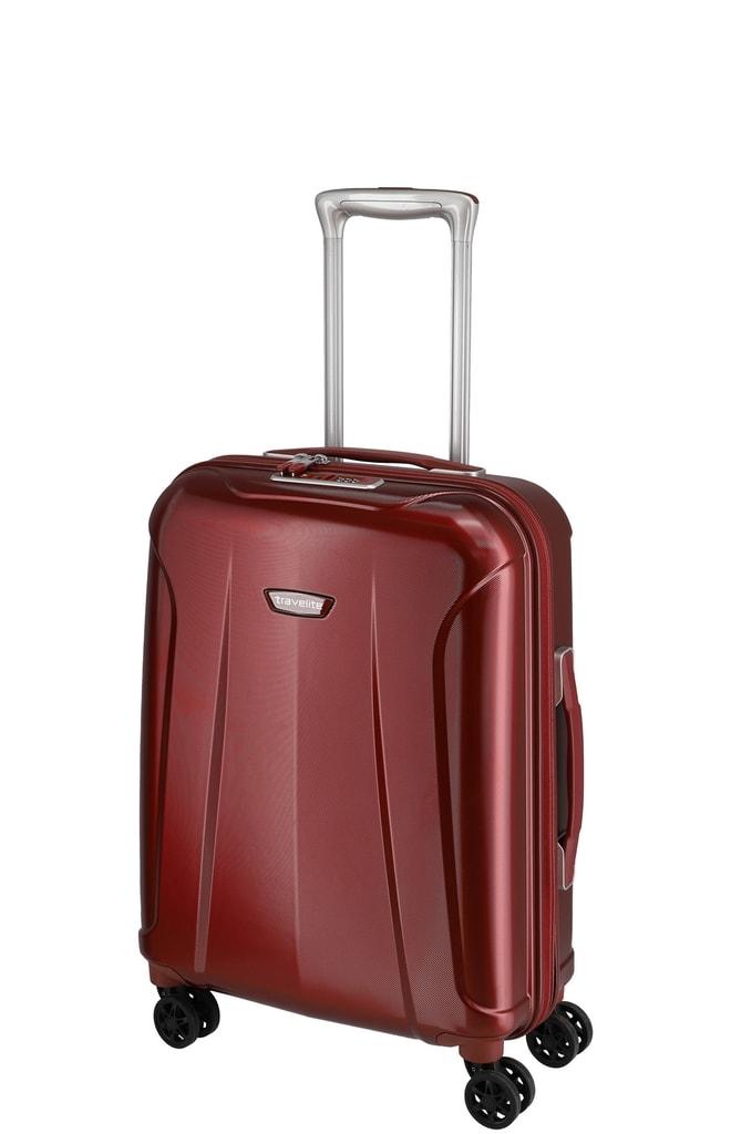 Travelite Kabinový cestovní kufr Elbe 4w S Red 37 l