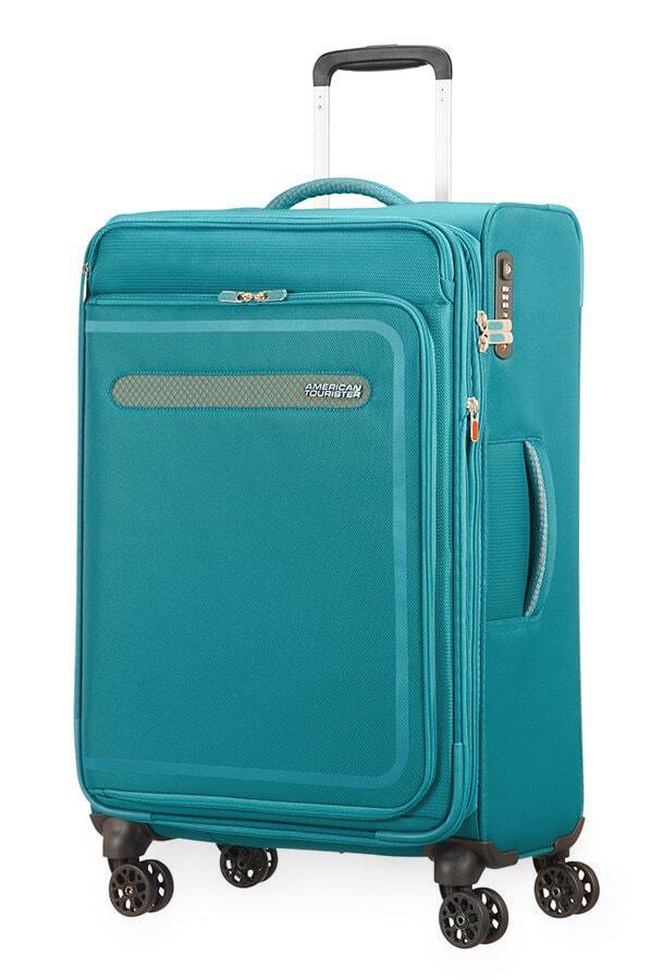 American Tourister Cestovní kufr AirBeat Spinner EXP 45G 69,5/75 l - tyrkysová