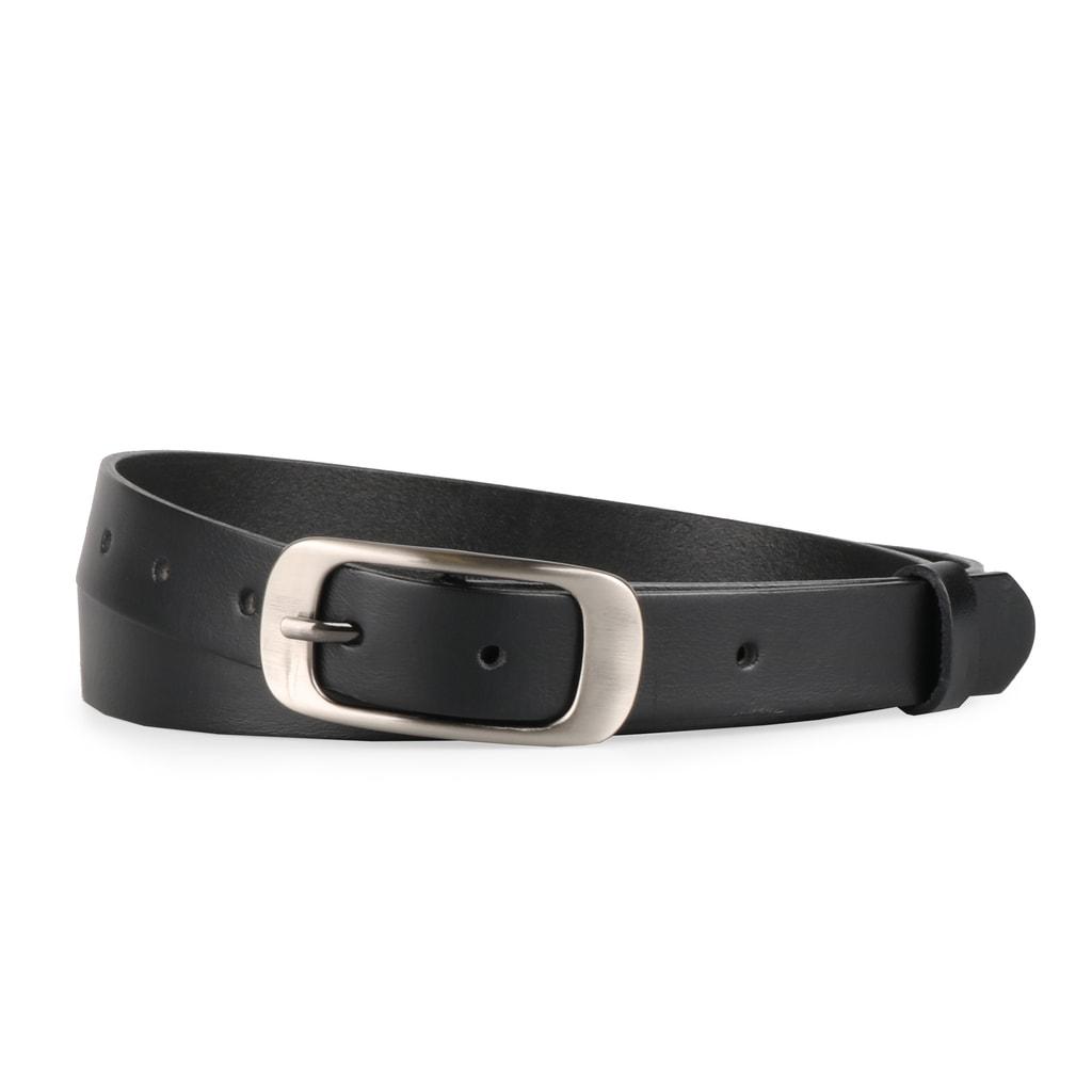 Penny Belts Dámský kožený opasek 173 - černý