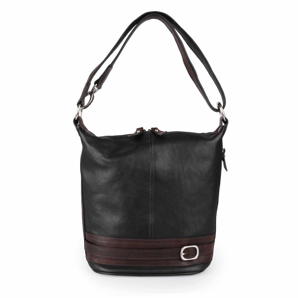 Sněžka Náchod Dámská kožená kabelka přes rameno 5103 - černá