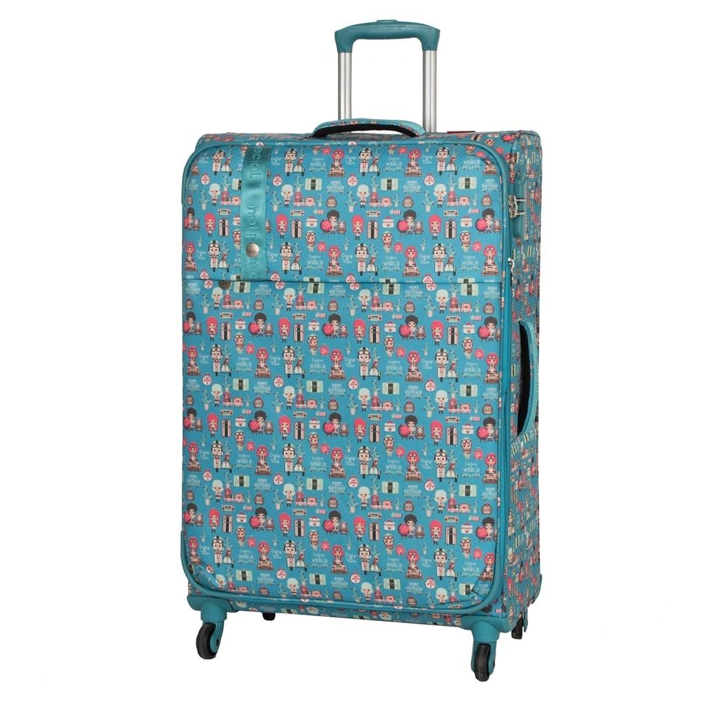 Travelite Cestovní kufr Lil' Ledy 4w L Turquoise 87 l