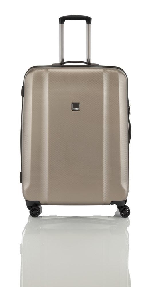 Titan Cestovní kufr Xenon Deluxe M+ 816407-40 103/107 l béžová