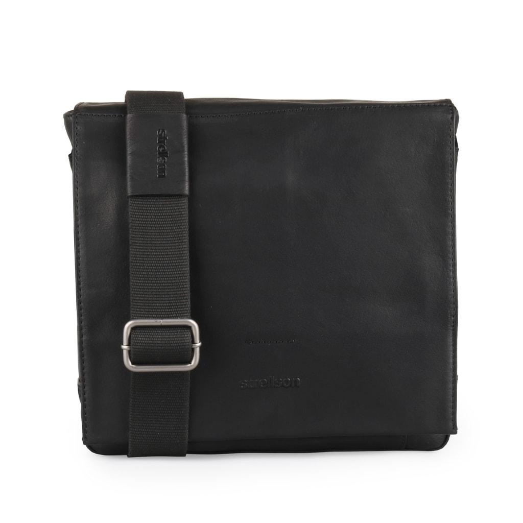Strellson Pánská kožená taška přes rameno Coleman 4010002313 - černá