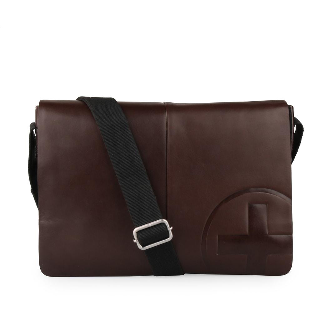 Strellson Pánská kožená taška přes rameno Jones 4010000119
