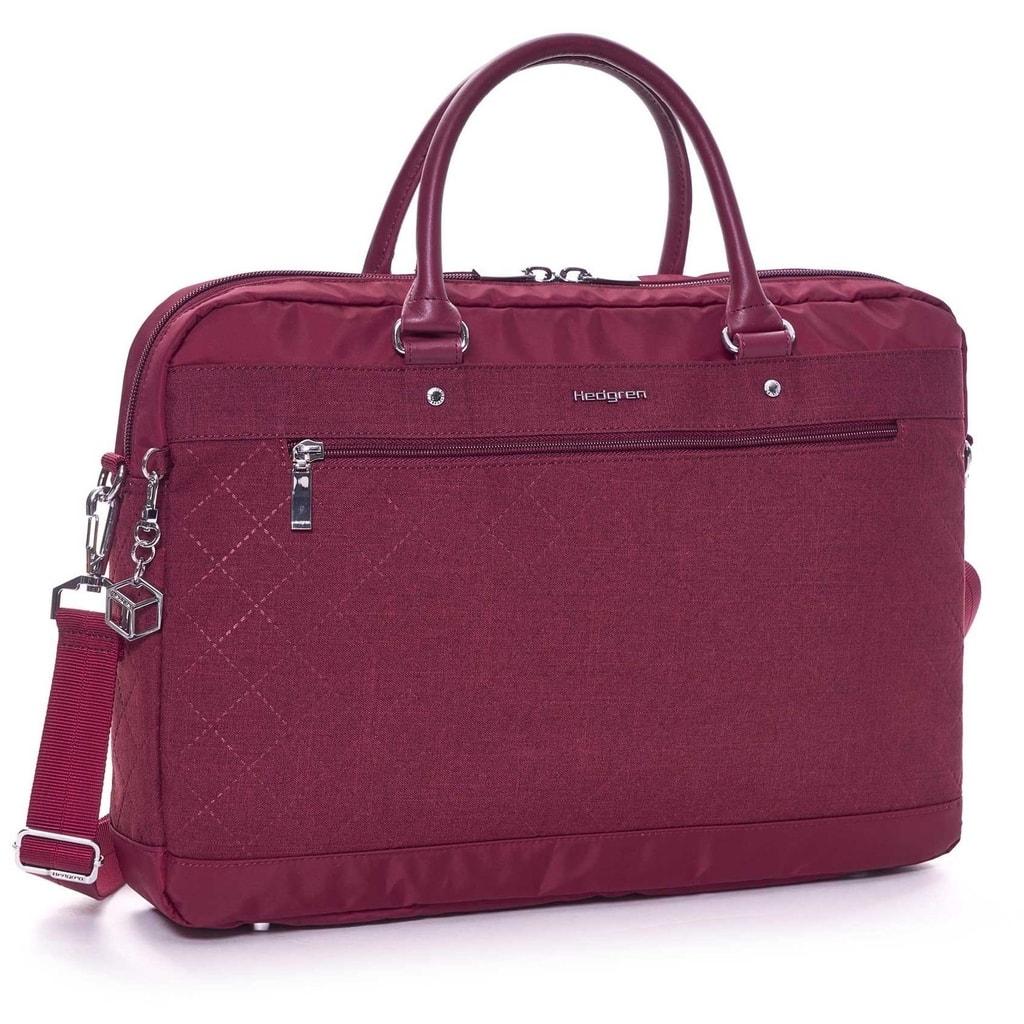 """Hedgren Dámská taška na notebook Opal L 15.6"""" - vínová 586-903-620"""
