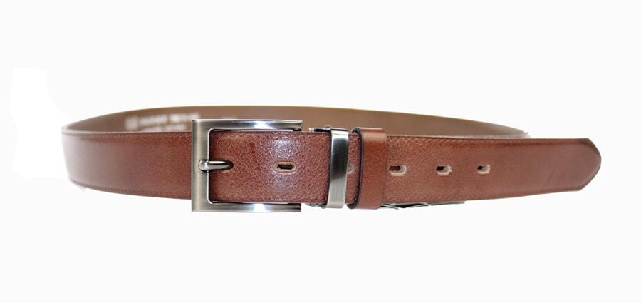 Penny Belts Pánský kožený opasek 30/020/4, hnědý