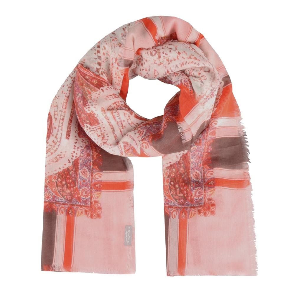 Nádherný barevný šátek z kolekce jaro léto 2019 od německé značky Fraas  rozveselí váš outfit. 73bcfe6299
