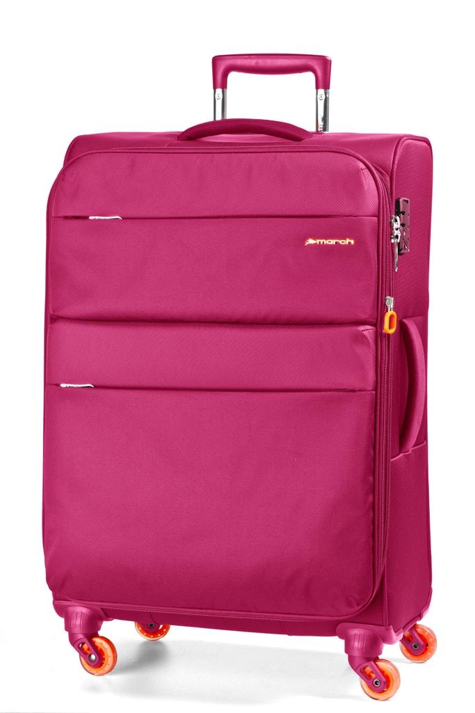 March Cestovní kufr Elle 69,5/82 l - růžová