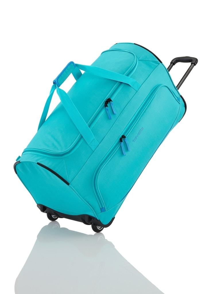 Travelite Cestovní taška na kolečkách Basics Fresh Wheeled Duffle Turquoise