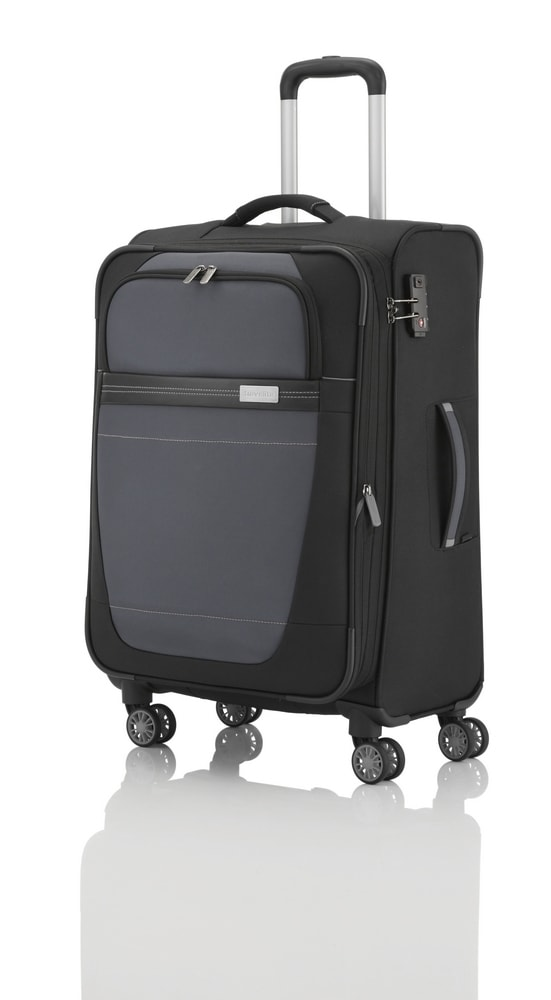 Travelite Cestovní kufr Meteor 4w M Black 69/79 l