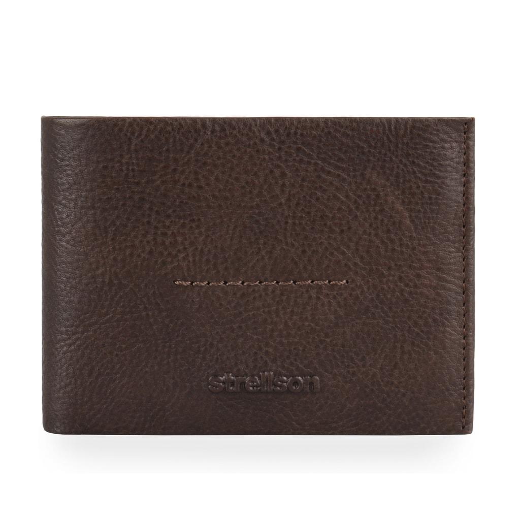 Pánská kožená peněženka v kompaktní velikosti od švýcarské značky Strellson  z kolekce Coleman 2.0 vylepšená o RFID ochranu. bc5ba64af32