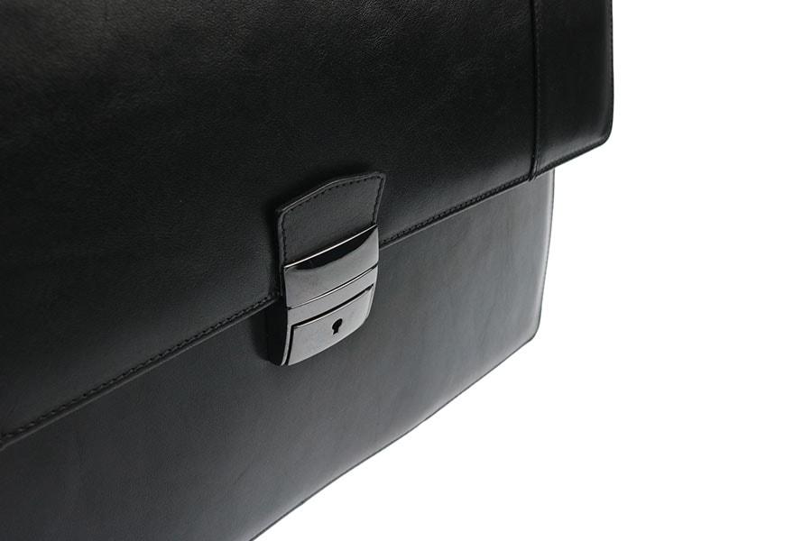 Pánská kožená aktovka 1235013-černá - Hajn - Aktovky - Pánské tašky ... 51efeb29c17