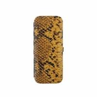 Kožená sada na manikúru hadí 1321-86, žlutá