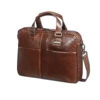 """Kožená taška na notebook 14,1"""" West Harbor 70D-004, hnědá"""