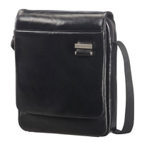 """Pánská kožená taška přes rameno 9,7"""" West Harbor 70D-002, černá"""