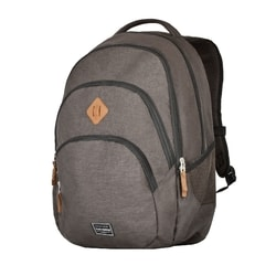 TRAVELITE, TRAVELITE BASICS BACKPACK MELANGE BROWN - BATOHY NA NOTEBOOK