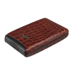 Credit Card Case FAN Leather Croco 16104003204 hnědá