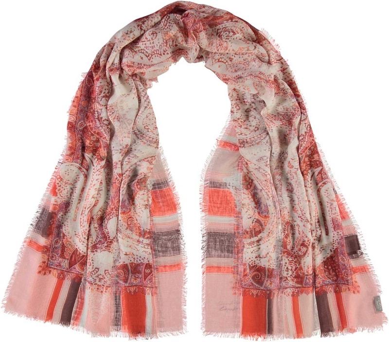 Dámský obdélníkový šátek 682410 - oranžová 94f60f69f4